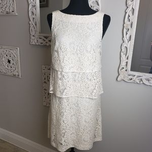NEW Tommy Hilfiger Layer Lace Dress Off white